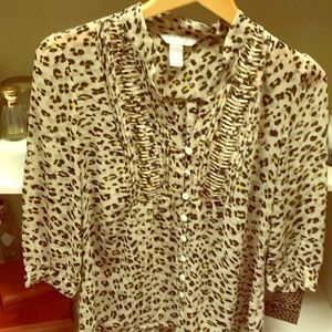Gorgeous animal print blouse by BR.